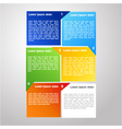 colorful infographic vector image