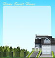 Single house and yard vector image