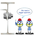 WORKERS WRONG SPANNER vector image vector image
