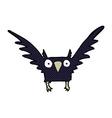 comic cartoon spooky bird vector image