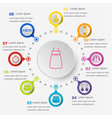 infographic template with dressing icons vector image