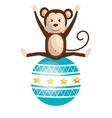 monkey circus animal show isolated icon vector image