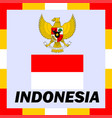 official ensigns flag and coat of arm of indonesia vector image