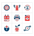 Set color icons of electric car vector image
