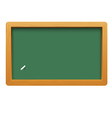 Wooden blackboard isolated on white background vector image vector image