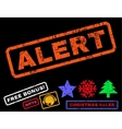 Alert Rubber Stamp vector image