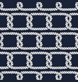 Seamless nautical rope pattern half knots vector image