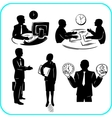 Businessman and businesswoman set vector image vector image
