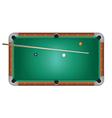 Pool Table Billiards vector image