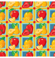 pattern of strawberry apple orange pear vector image