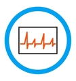 Cardiogram Rounded Icon vector image