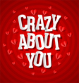 Crazy about you vector image vector image