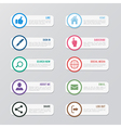 Web site icons set Social media design elements vector image