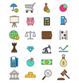 Set of color economy icons vector image vector image