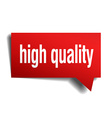 high quality red 3d realistic paper speech bubble vector image