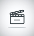 Modern media web icon Movie clap vector image