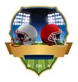 American Football Helmets Emblem vector image
