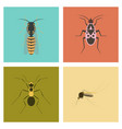 assembly flat insect wasp soldier bug ant mosquito vector image