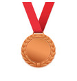 Bronze medal isolated on white vector image