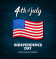 fourth of july usa independence day greeting card vector image