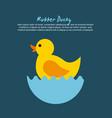 rubber ducky cartoon vector image