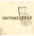 Oktoberfest emblem in hand drawn sketch style vector image