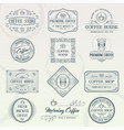 Set of vintage coffee badges vector image