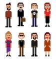 pixel style people vector image