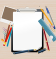 clipboard composition vector image