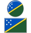 Solomon Islands round and square icon flag vector image vector image
