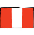 abstract peruvian flag or banner vector image
