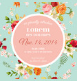 baby shower invitation floral greeting card vector image