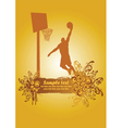 basketball dunk poster vector image