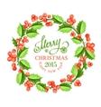 Christmas mistletoe wreath vector image