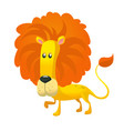 cute cartoon lion character wild animal vector image