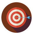 Flat Business Success Target Circle Icon with Long vector image