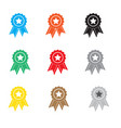 set simply award icon on white background simply vector image