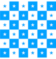 Star Blue White Chess Board Background vector image