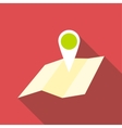 Travel map icon flat style vector image