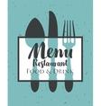 restaurant menu with cutlery vector image