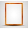 blank wooden frame vector image vector image