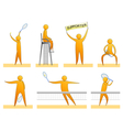 Human tennis silhouettes vector image