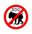 Mandrill in zoo prohibited vector image