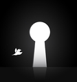 images of birds that are flying out the door vector image