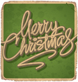 hand lettered vintage Christmas card vector image vector image