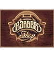 sign for a barber shop vector image