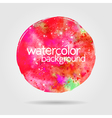 Watercolor background hand-drawn round stain vector image