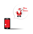 Send a message via telephone on Christmas Day vector image