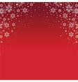 red snowflake background vector image