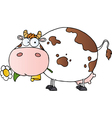Cartoon Character Cow Different Color White vector image
